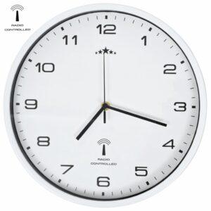Funkwanduhr mit Quarzwerk 31 cm Weiß