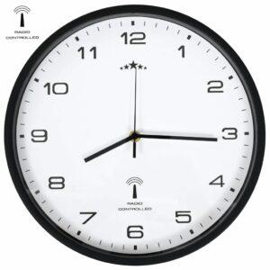 Funkwanduhr Quarzwerk 31 cm Weiß & Schwarz