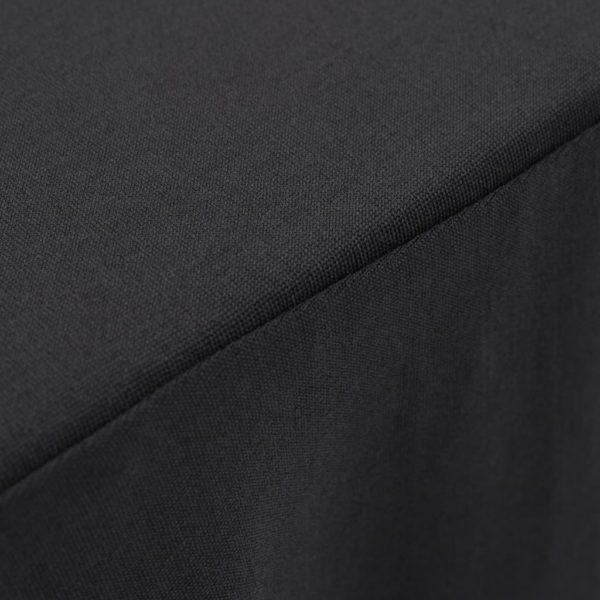 2 Stück Tischdecken mit Rand Stretch Anthrazit 243 x 76 x 74 cm