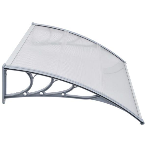 Türvordach Grau 120×100 cm PC