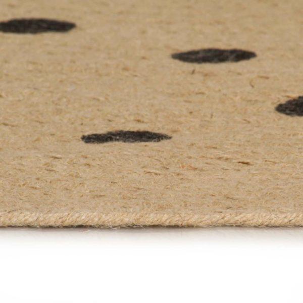 Teppich Handgefertigt Jute mit Punktmuster 120 cm