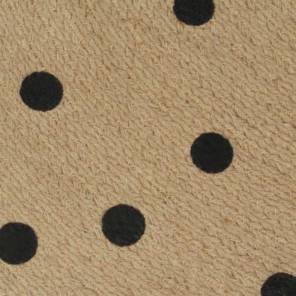 Teppich Handgefertigt Jute mit Punktmuster 150 cm