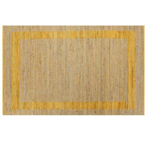 Teppich Handgefertigt Jute Gelb 80×160 cm