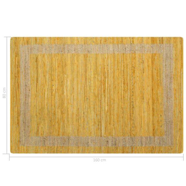 Teppich Handgefertigt Jute Gelb 120×180 cm