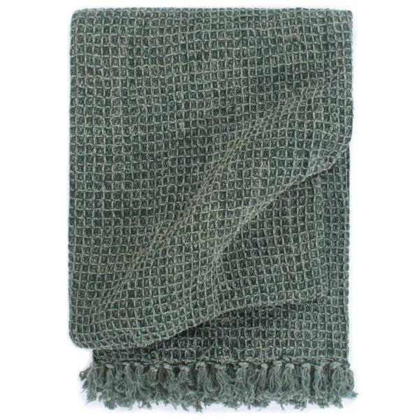 Überwurf Baumwolle 125×150 cm Dunkelgrün