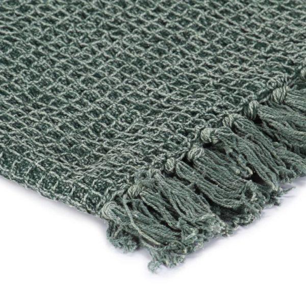 Überwurf Baumwolle 220×250 cm Dunkelgrün