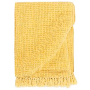 Überwurf Baumwolle 220×250 cm Senfgelb