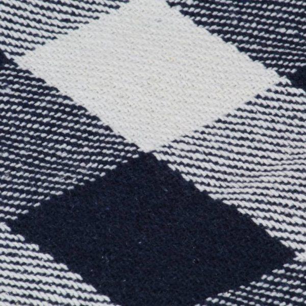 Überwurf Baumwolle Karo 125×150 cm Marineblau