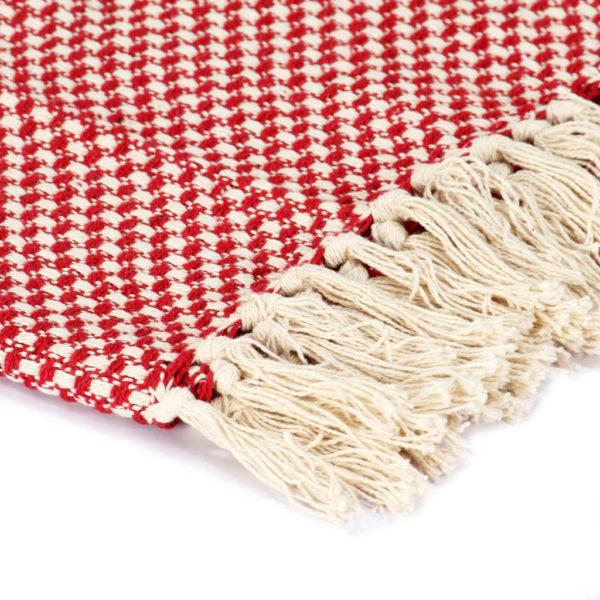 Überwurf Baumwolle 125×150 cm Rot
