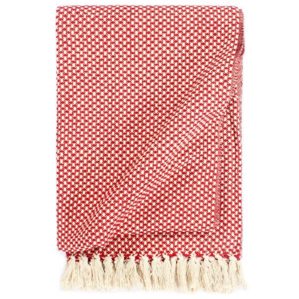 Überwurf Baumwolle 220×250 cm Rot