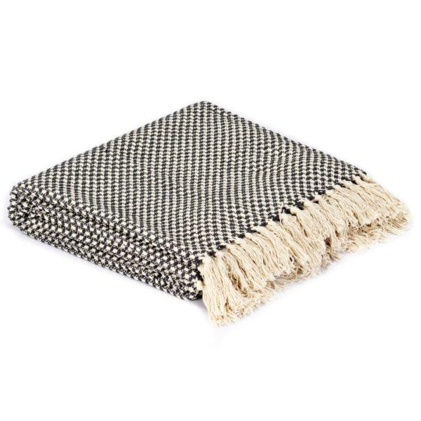 Überwurf Baumwolle 160×210 cm Anthrazit
