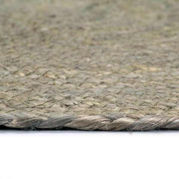 Tischsets 4 Stk. Uni Grau 38 cm Rund Jute