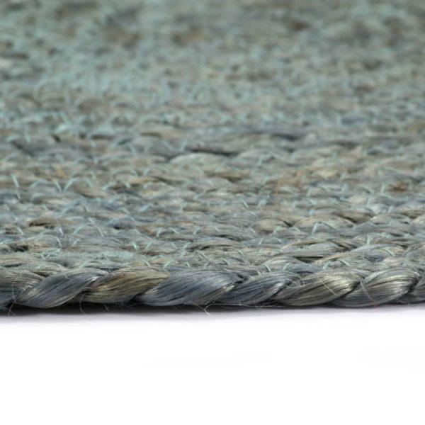 Tischsets 6 Stk. Uni Olivgrün 38 cm Rund Jute