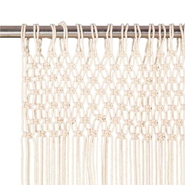 Makramee Vorhang 140×240 cm Baumwolle