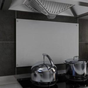 Küchenrückwand Weiß 80 x 50 cm Hartglas