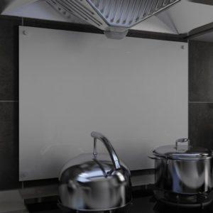Küchenrückwand Weiß 80 x 60 cm Hartglas