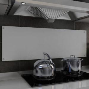 Küchenrückwand Weiß 120 x 40 cm Hartglas