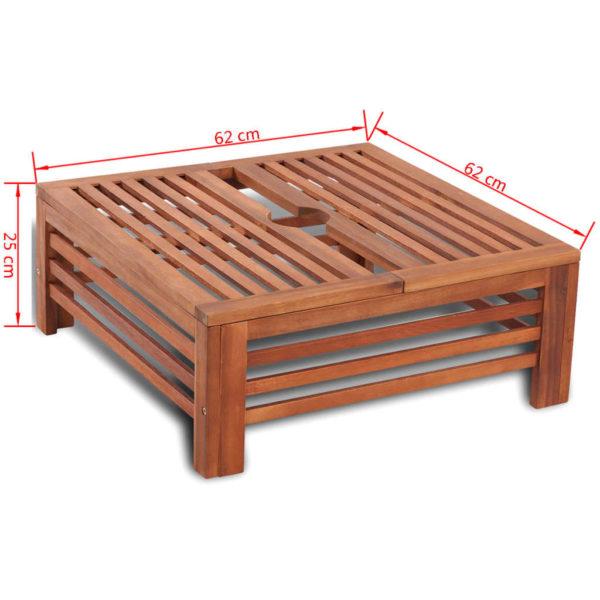 Sonnenschirmständer-Verkleidung aus Holz