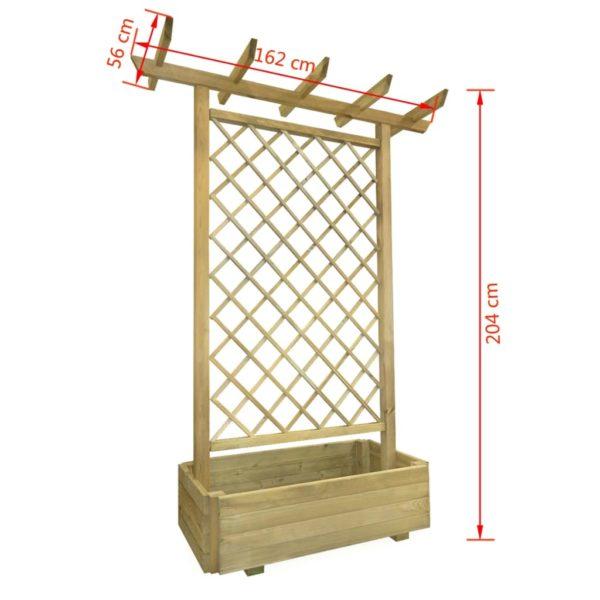 Pergola mit Pflanzkasten 162x56x204 cm Holz