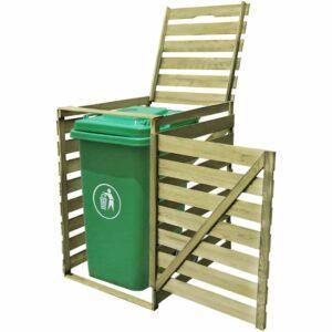 Mülltonnenbox für 1 Tonne 240 L Imprägniertes Holz