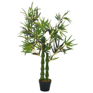 Künstliche Pflanze Bambus mit Topf Grün 110 cm