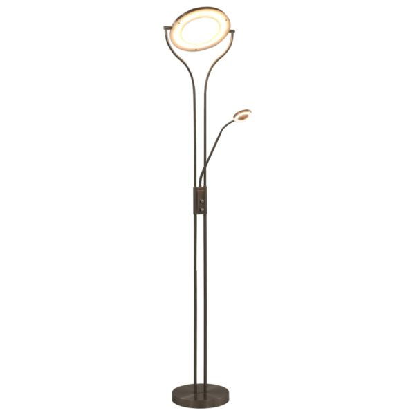 Stehlampe 18 W Silbern 180 cm Dimmbar