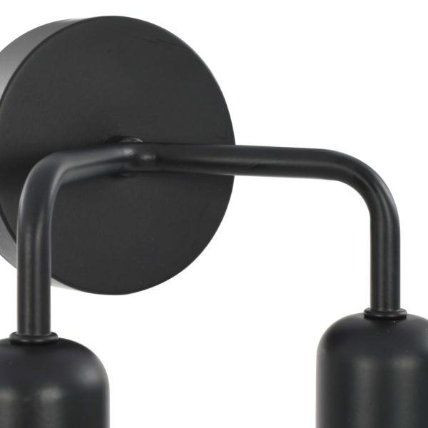Wandleuchte Schwarz E27