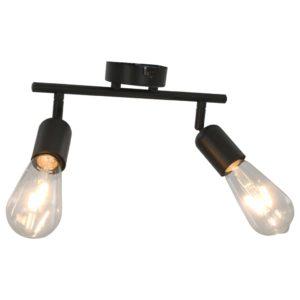 2-Wege-Spotlicht mit Glühlampen 2 W Schwarz E27