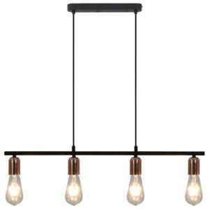 Deckenleuchte mit Glühlampen 2 W Schwarz und Kupfer 80 cm E27