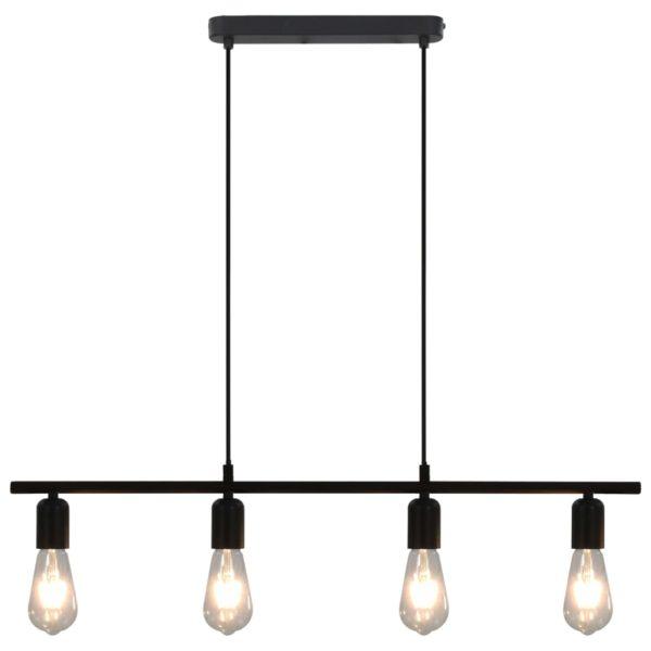 Deckenleuchte mit Glühlampen 2 W Schwarz 80 cm E27