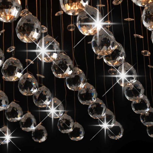 Deckenleuchte mit Kristallperlen Silbern Cubic G9