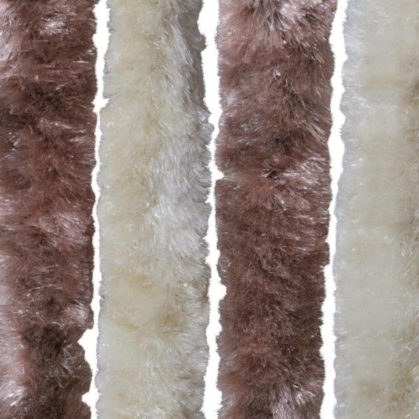 Insektenschutz-Vorhang Beige und Hellbraun 56×185 cm Chenille