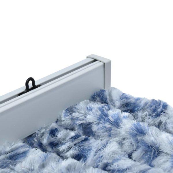 Insektenschutz-Vorhang Blau, Weiß und Silbern 56x185cm Chenille