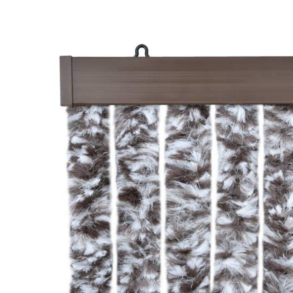 Insektenschutz-Vorhang Braun und Beige 56×185 cm Chenille