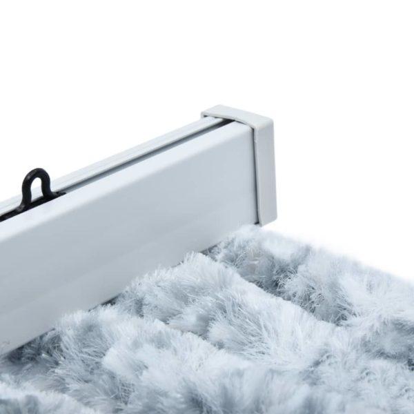 Insektenschutz-Vorhang Weiß und Grau 56×185 cm Chenille