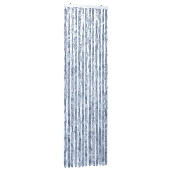 Insektenschutz-Vorhang Silbern 56×185 cm Chenille