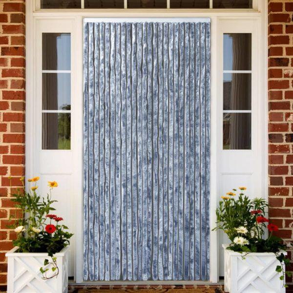 Insektenschutz-Vorhang Silbern 90×220 cm Chenille