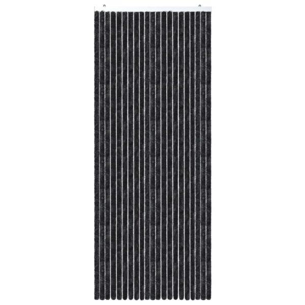 Insektenschutz-Vorhang Anthrazit 90×220 cm Chenille