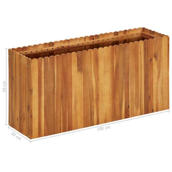 Garten-Hochbeet 100 x 30 x 50 cm Massivholz Akazie