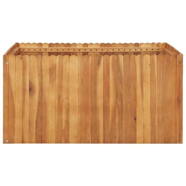 Garten-Hochbeet 100 x 100 x 50 cm Massivholz Akazie