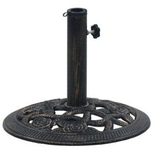 Sonnenschirmständer Schwarz und Bronze 9 kg 40 cm Gusseisen