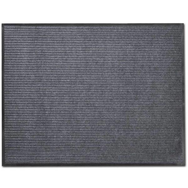 Türmatten 2 Stk. PVC Grau 90 x 60 cm
