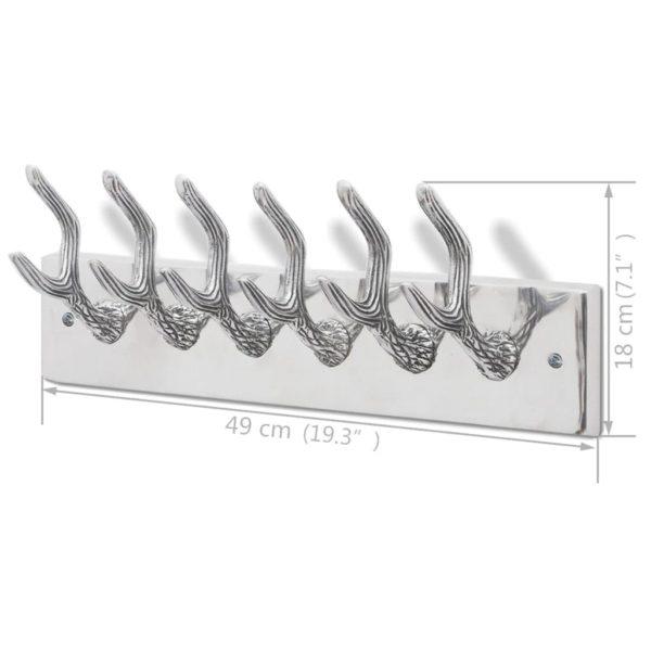Garderobenleisten 2 Stk. Silbern Aluminium