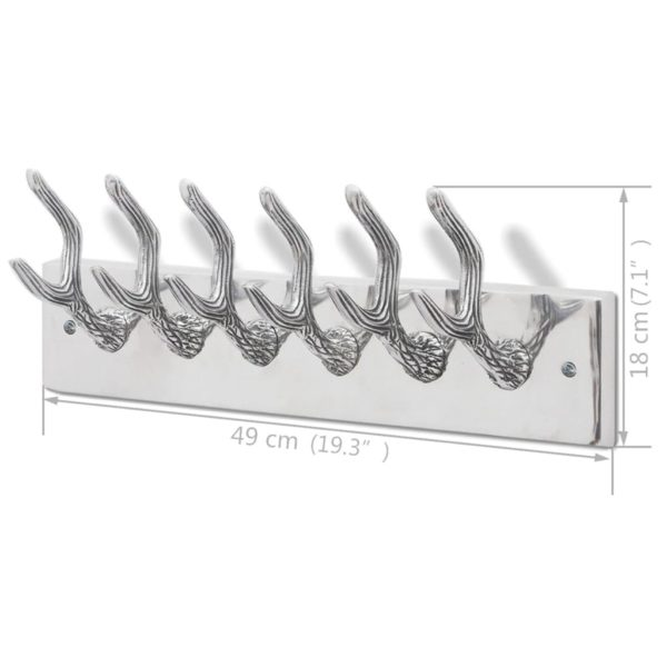Garderobenleisten 4 Stk. Silbern Aluminium