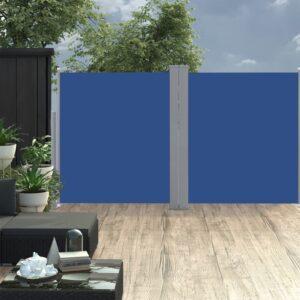 Ausziehbare Seitenmarkise Blau 160 x 600 cm