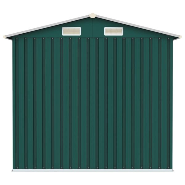 Gerätehaus Grün 205x129x183 cm Verzinkter Stahl