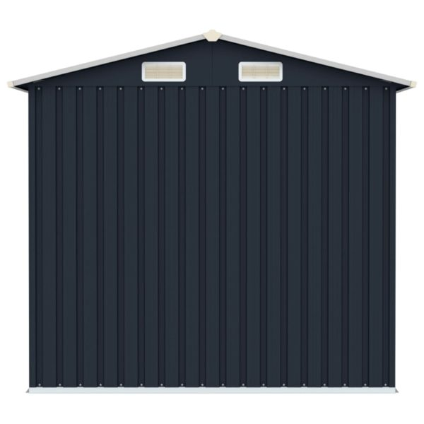 Gerätehaus Anthrazit 205x129x183 cm Verzinkter Stahl