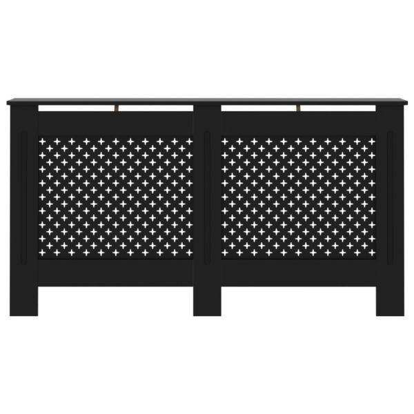 Heizkörperverkleidung Schwarz 152 x 19 x 81 cm MDF