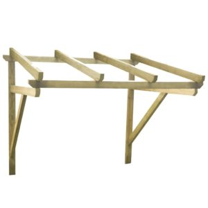 Türvordach 200×150×160 cm Kiefer Massivholz