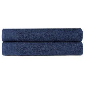 Duschtuch-Set 2-tlg. Baumwolle 450 g/m² 70×140 cm Marineblau